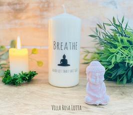Breath Kerze für Yoga & Meditation * Breath and let that shit go *