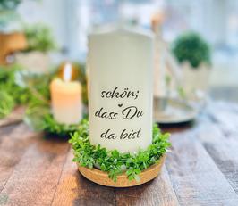 Bluke006 Kerze ⋆ Schön, dass du da bist ⋆