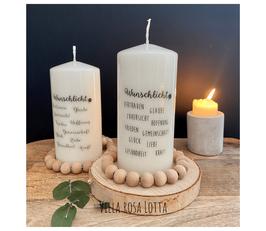Bluke039 Kerze ⋆ Wunschlicht ⋆ Vertrauen Glaube Zuversicht Hoffnung Frieden Gemeinschaft Glück Liebe Gesundheit Kraft