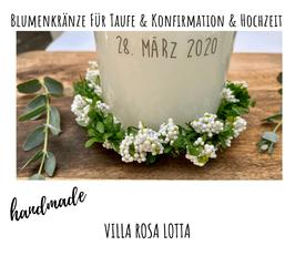 """Blumenkranz """"FLORA WEISS"""" grün mit weißen Beeren ⋆ Blätterkranz⋆ Kerzenkranz ⋆"""