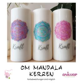 Om Mandala Kerze für Meditation & Yoga