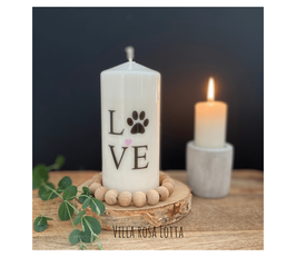 Bluke010 Kerze ⋆ Hundeliebe ⋆ Liebe auf 4 Pfoten