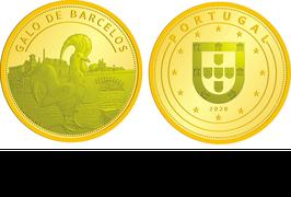 """Medalha Souvenir """"Galo de Barcelos"""""""