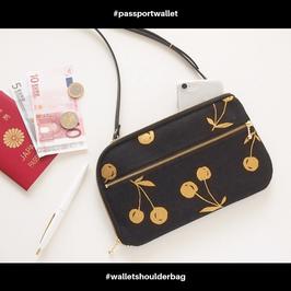 お財布ショルダーバッグ【ラージサイズ】ゴールドチェリー