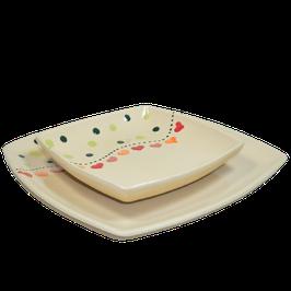 Assiette Carré