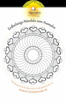 Erdheilungs-Mandala - Serie 1 - (5 + 1 Bild) per Postversand