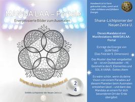 Nr. 24 - MAN'DA'LAA-Portal-Druck - Manifestations-Mandala