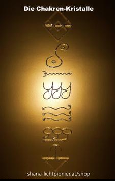 Set-Angebot: Chakra-Kristalle 1 bis 7 - in Brilliantglitter-Hellgold - ZUM KLEBEN
