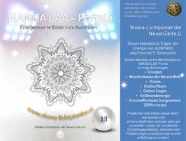 Nr. 13 - MAN'DA'LAA-Portal-Druck - Manifestations-Mandala