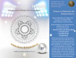 Nr. 21 - MAN'DA'LAA-Portal-Druck - Manifestations-Mandala
