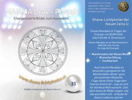 Nr. 31 - MAN'DA'LAA-Portal-Druck - Manifestations-Mandala