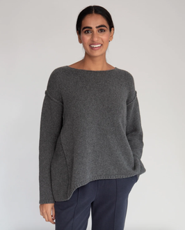 BEAUMONT ORGANIC | PULLOVER ALESSANDRA-ROSE | DARK GREY