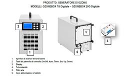 OZONIZZATORE SANIFICATORE PROFESSIONALE PORTATILE 7000 mg/h digitale e 20000 mg/h analogico