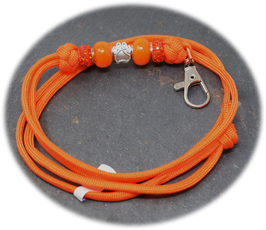 Schmuckkette für Hundepfeife in orange  Nr. 61