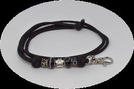 Schmuckkette für Hundepfeife in schwarz Nr. 16