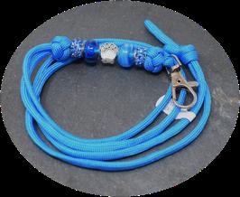Schmuckkette für Hundepfeife in stahlblau Nr. 42