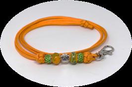 Schmuckkette für Hundepfeife in orange Nr. 3
