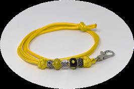 Schmuckkette für Hundepfeife in gelb Nr. 2