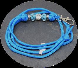 Schmuckkette für Hundepfeife in stahlblau Nr. 43
