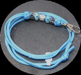 Schmuckkette für Hundepfeife in himmelblau  Nr. 41