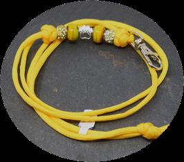 Schmuckkette für Hundepfeife in gelb Nr. 59