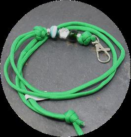 Schmuckkette für Hundepfeife in apfelgrün Nr. 56
