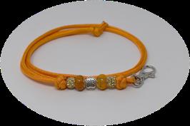 Schmuckkette für Hundepfeife in orange Nr. 4