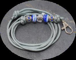 Schmuckkette für Hundepfeife in grau Nr. 20