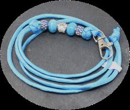Schmuckkette für Hundepfeife in himmelblau  Nr. 40