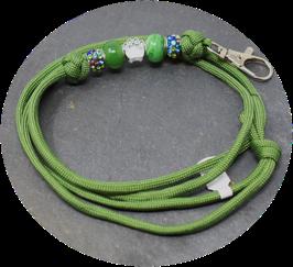 Schmuckkette für Hundepfeife in olivgrün  Nr. 51