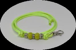 Schmuckkette für Hundepfeife in hellgrün Nr. 8