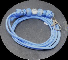 Schmuckkette für Hundepfeife in taubenblau Nr. 38