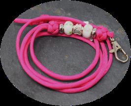 Schmuckkette für Hundepfeife in pink  Nr. 28