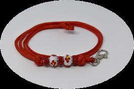 Schmuckkette für Hundepfeife in rot Nr. 6