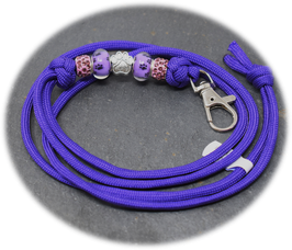 Schmuckkette für Hundepfeife in lila  Nr. 35