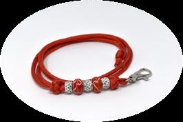 Schmuckkette für Hundepfeife in rot Nr. 5