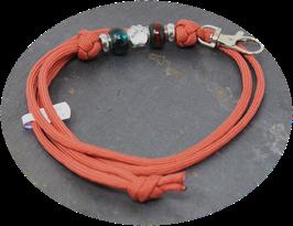 Schmuckkette für Hundepfeife in rostorange  Nr. 67