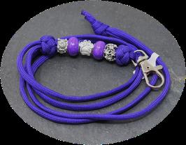 Schmuckkette für Hundepfeife in lila Nr. 34