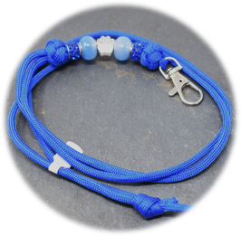 Schmuckkette für Hundepfeife in dunkelblau Nr. 37