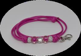 Schmuckkette für Hundepfeife in pink Nr. 13