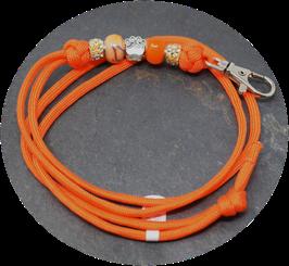 Schmuckkette für Hundepfeife in orange  Nr. 60
