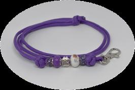 Schmuckkette für Hundepfeife in lila Nr. 12