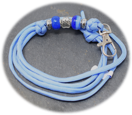 Schmuckkette für Hundepfeife in taubenblau Nr. 39