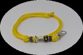 Schmuckkette für Hundepfeife in gelb Nr. 1