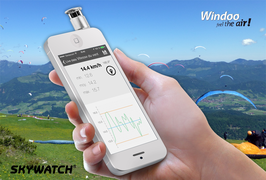 WINDOO - Windmesser mit Thermometer für Smartphones und Tablets