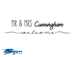 Mr & Mrs [Your Last Name] Welcome (small)