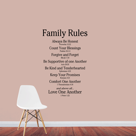 Family Rules - Love One Another (large)
