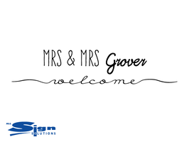 Mrs & Mrs [Your Last Name] Welcome (large)