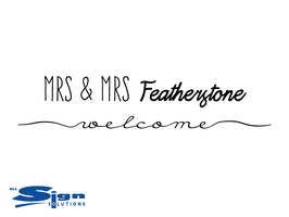 Mrs & Mrs [Your Last Name] Welcome (small)