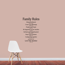 Family Rules - Love One Another (medium)